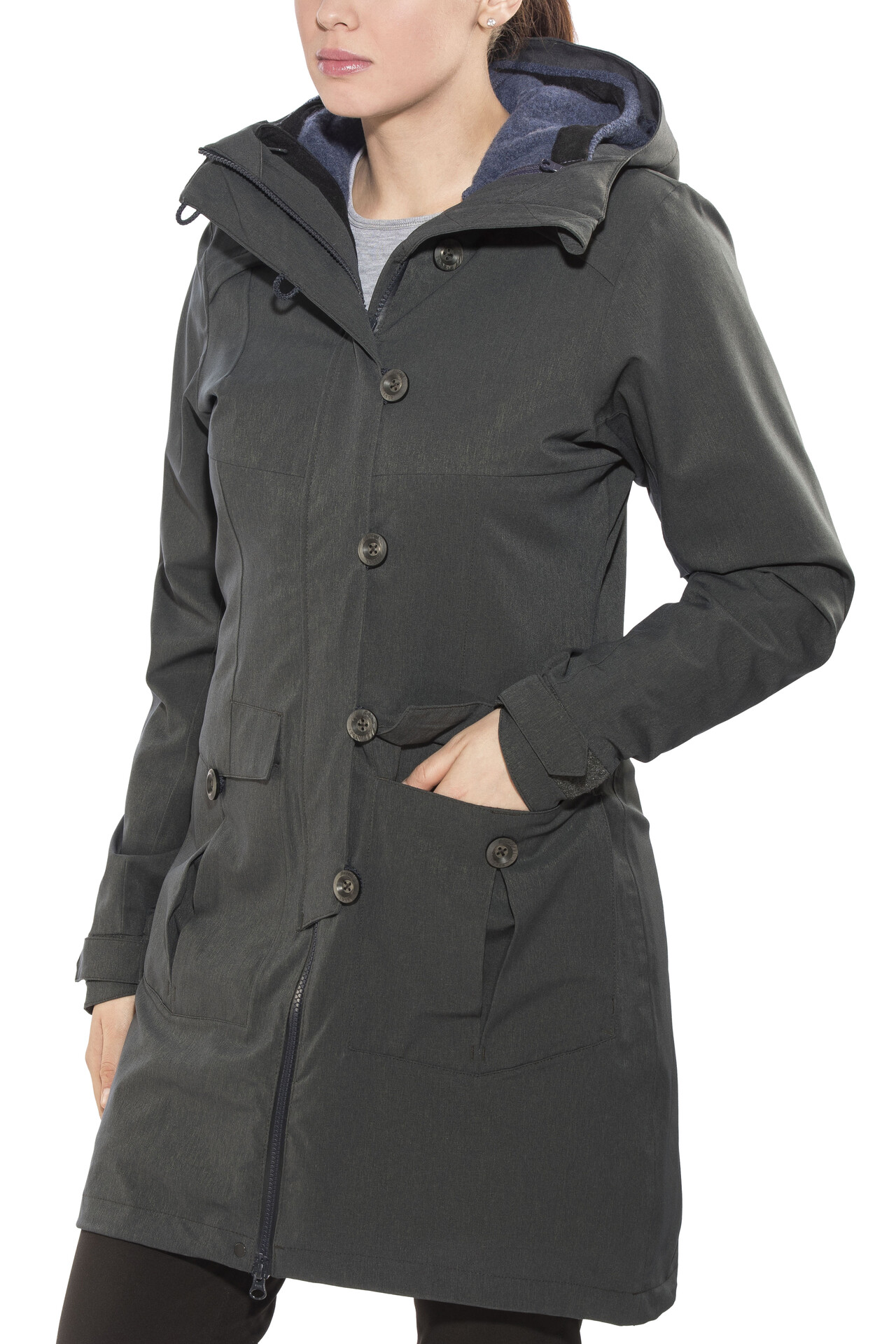 Bergans Bjerke 3in1 Jas Dames, outer:solid charcoalinner:night blue